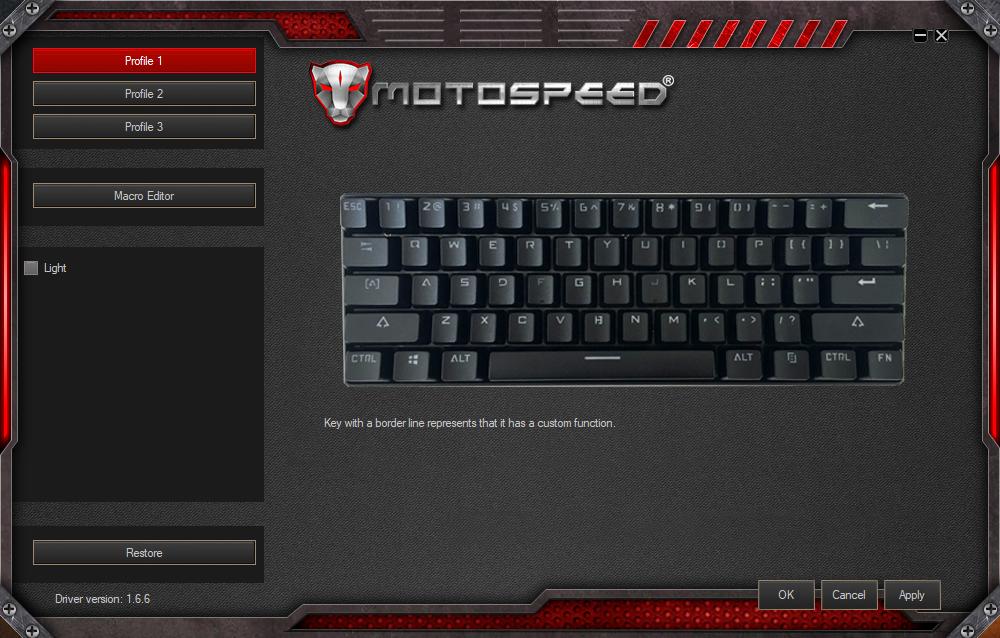Motospeed CK61 Software