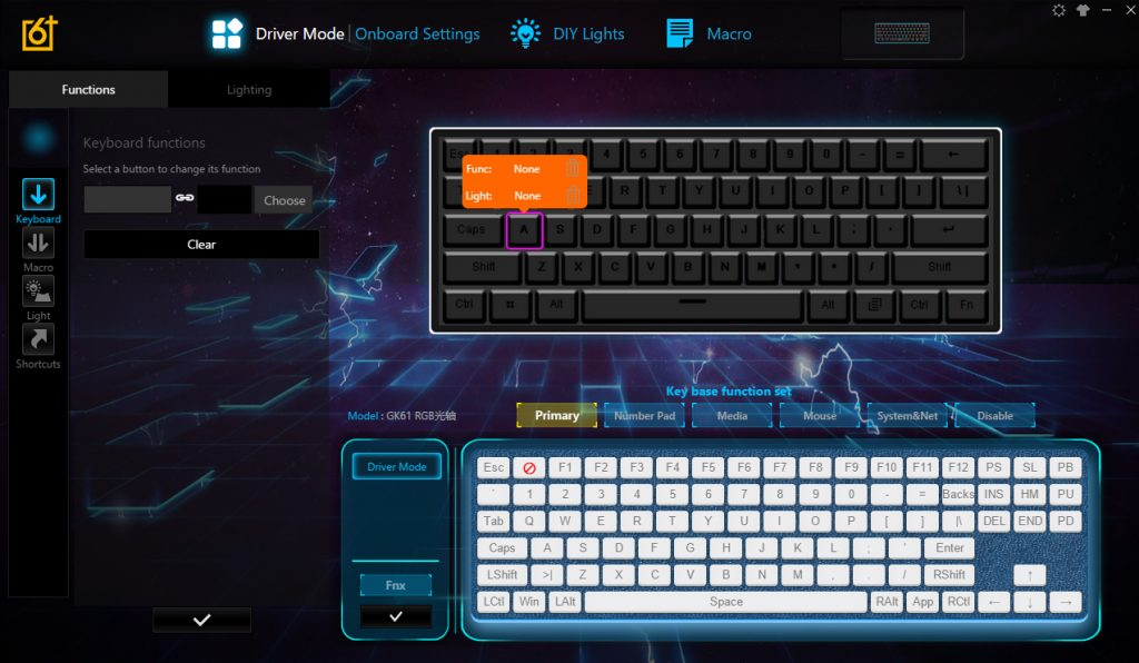 Geek GK61 60% Optical Gaming Keyboard